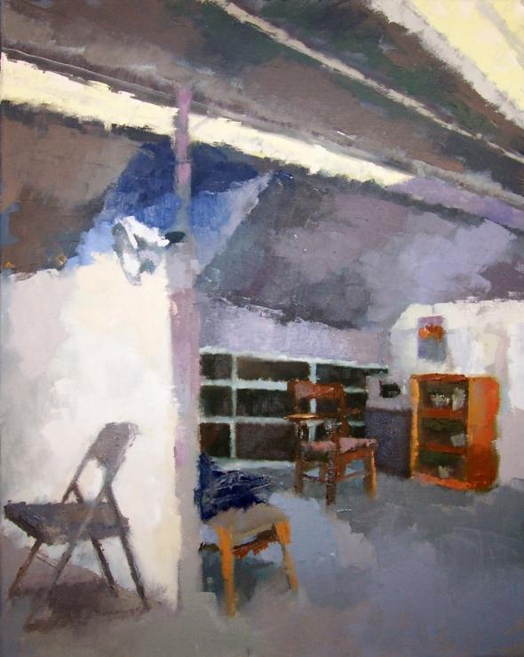Josh's Studio With Empty Desk