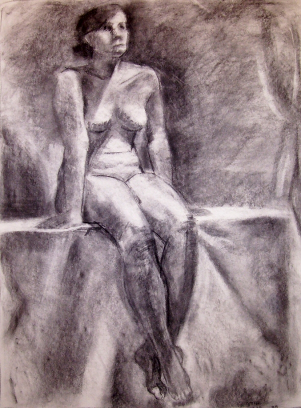 Female Nude Sitting