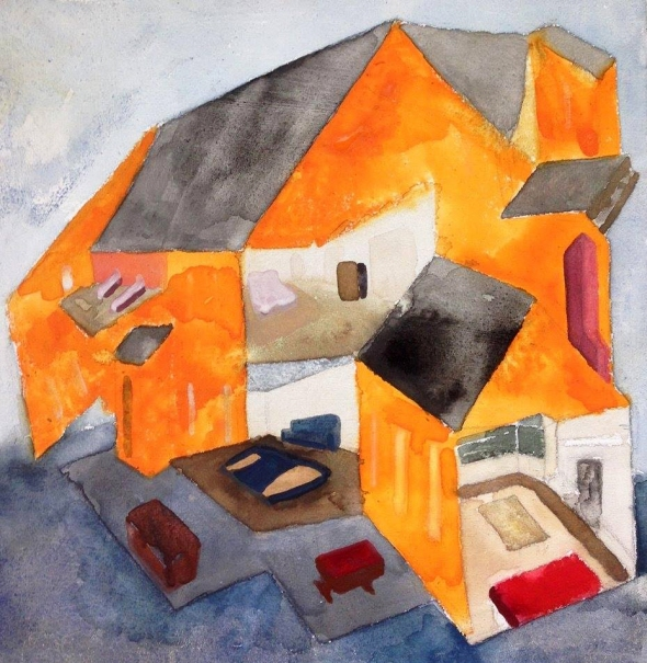 """Norfolk House"", watercolor on paper, 2015"