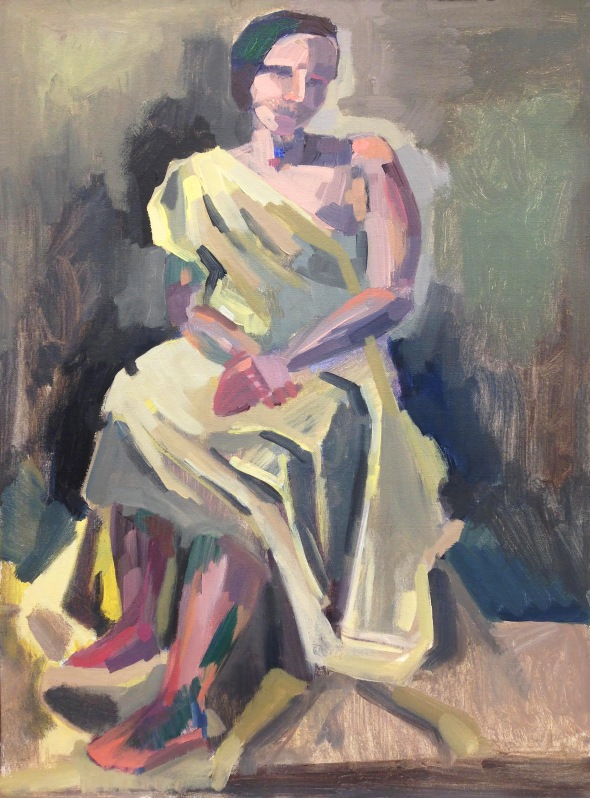 """Stephanie Draped"" acrylic on canvas, 2018"