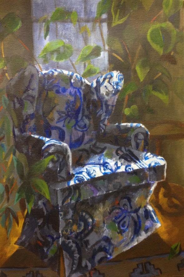 """Formal Jungle"" acrylic on canvas, 2018"